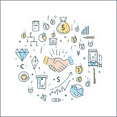 Bussines, finance, money line concept