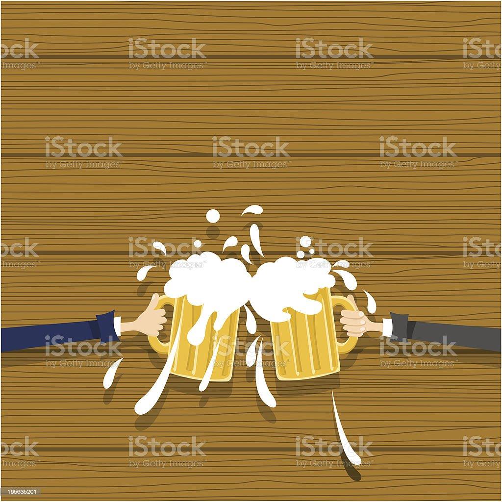 Bussinesmen toasting vector art illustration