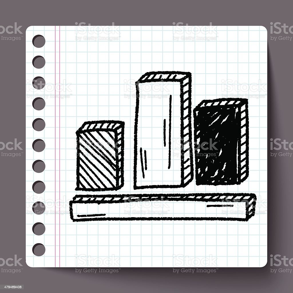 Businessdiagramm Zeichnen Doodle Vektor Illustration 479469408 | iStock