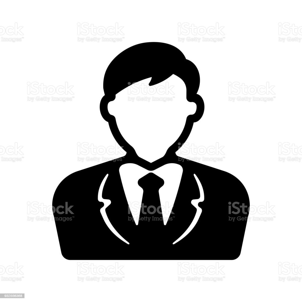 bussiness man / business person icon vector art illustration