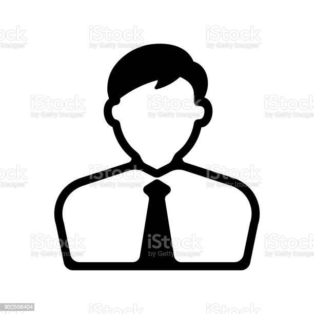 Bussiness Man Business Person Icon - Arte vetorial de stock e mais imagens de Adulto