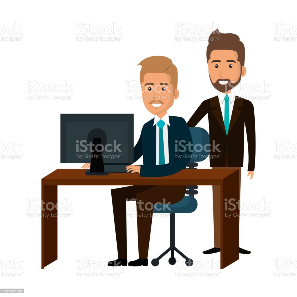 bussiness people working icon stock vector art more images of