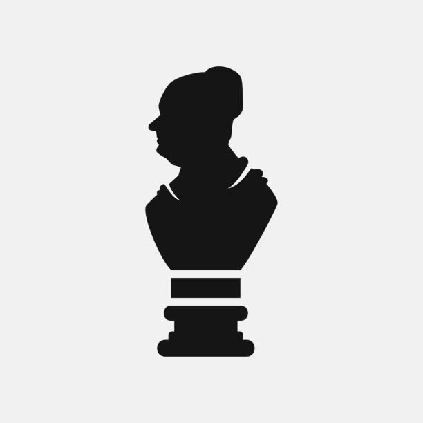 Bust icon illustration vector art illustration