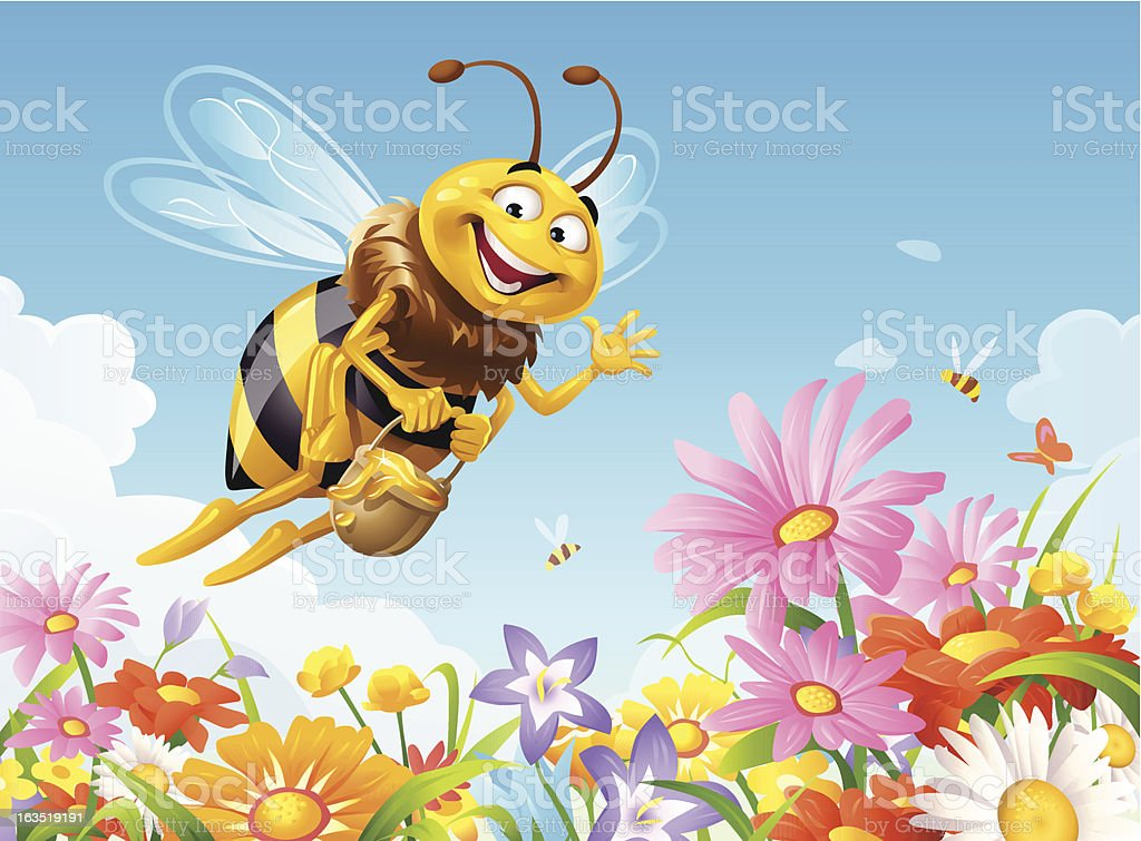 Busy Bee royalty-free stock vector art