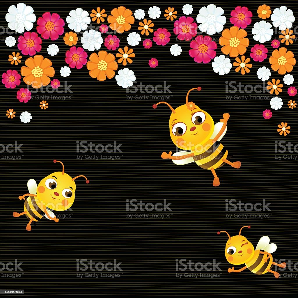 Busy Bees royalty-free stock vector art
