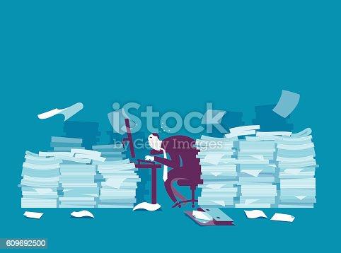 istock Busy businessman 609692500