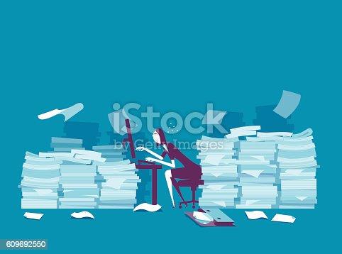 istock Busy businesswoman 609692550