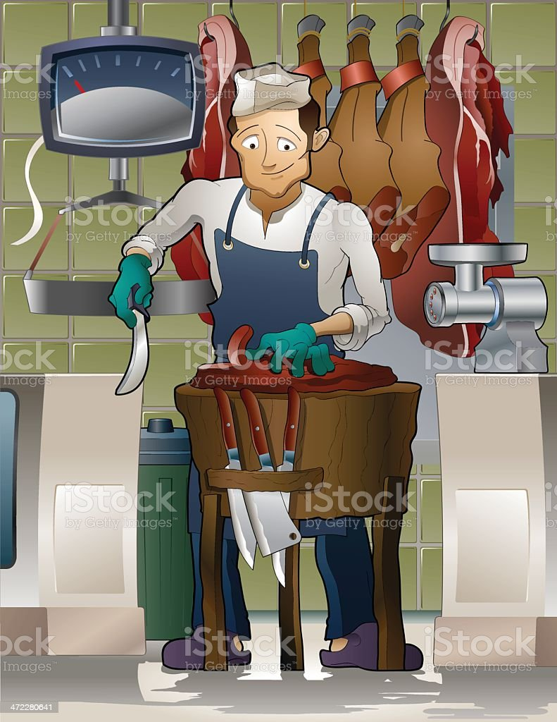 Busy Butcher royalty-free busy butcher stock vector art & more images of adult
