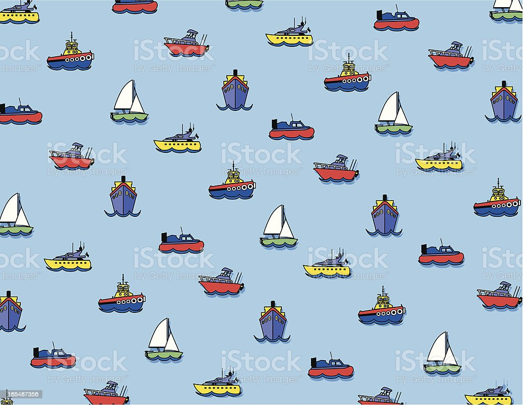 busy harbor pattern royalty-free stock vector art