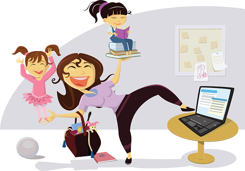 Busy Mom Multi-tasking