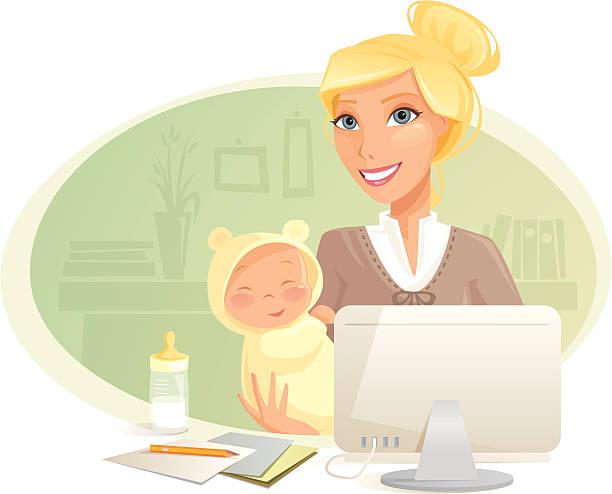 illustrations, cliparts, dessins animés et icônes de longue maman - femmes actives