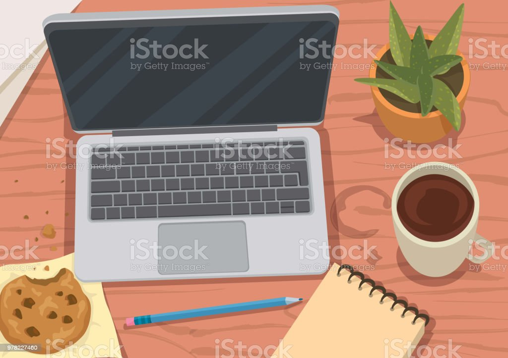 Busy Morning vector art illustration