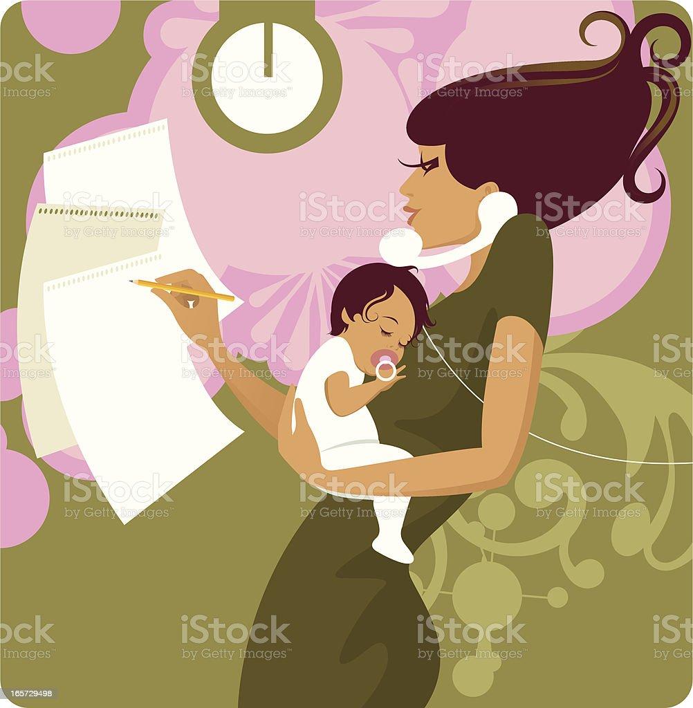 Longue mère. - Illustration vectorielle