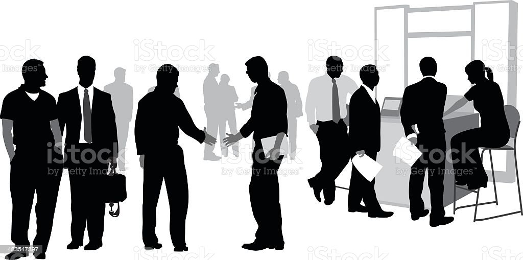 Busy People vector art illustration
