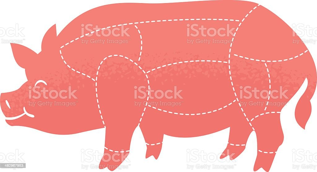 butcher pig royalty-free stock vector art