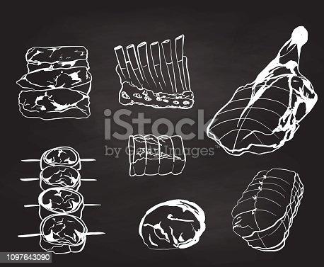 istock Butcher Shop Choice Cuts 1097643090