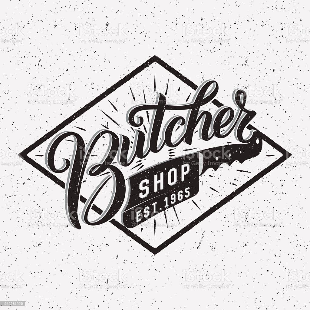 Logotype de boutique de boucher. - Illustration vectorielle