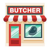 istock Butcher Shop on Transparent Background 1284316933