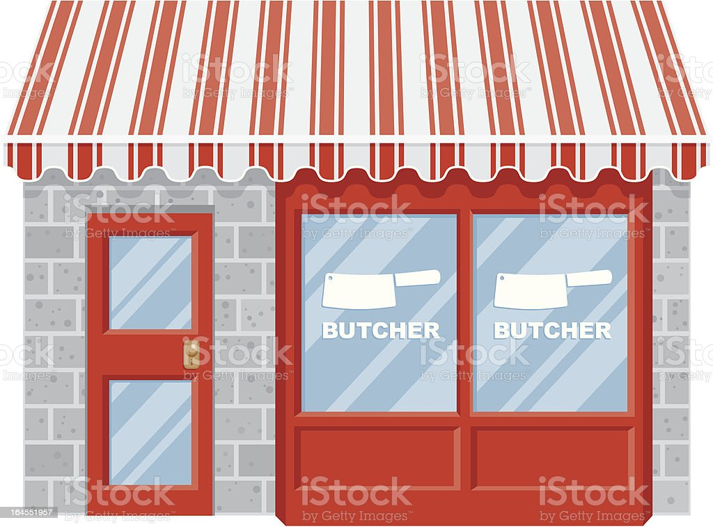 Butcher Shop royalty-free butcher shop stock vector art & more images of awning