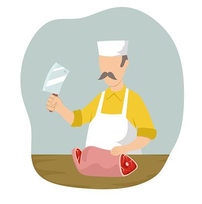 Butcher stock illustration
