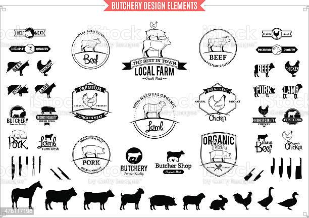 Butchery logos labels charts and design elements vector id476117198?b=1&k=6&m=476117198&s=612x612&h=kzz lloaow0a1lpwpvyvbjeb5js n 5kezokhioebf0=