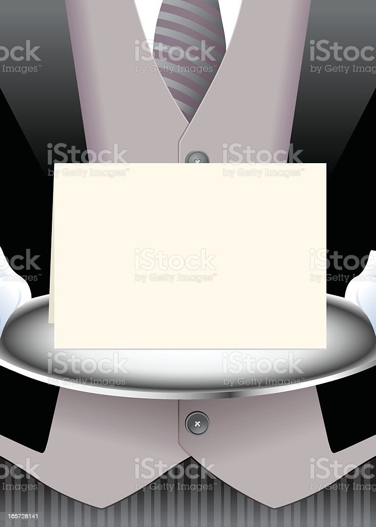 Butler Brings a Message royalty-free butler brings a message stock vector art & more images of announcement message