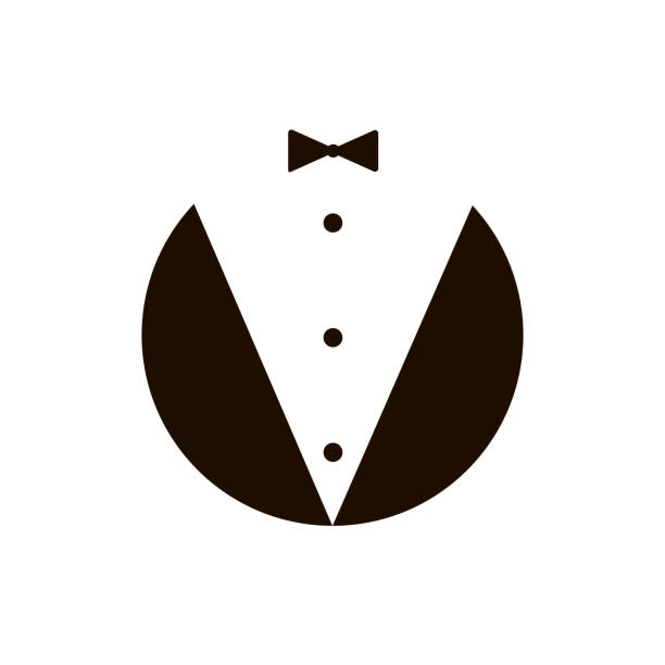 butler-gentleman-symbol. vektor - nahrungsmittelindustrie stock-grafiken, -clipart, -cartoons und -symbole