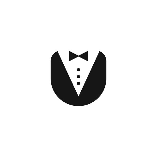 butler uniform icon butler uniform icon vector logo person tuxedo stock illustrations
