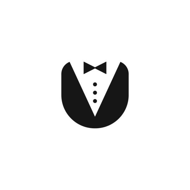 ilustrações, clipart, desenhos animados e ícones de ícone de uniforme de mordomo - eventos de gala