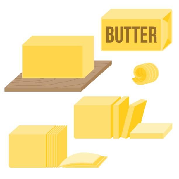 Butter in various types – artystyczna grafika wektorowa