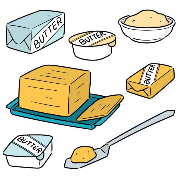 butter – artystyczna grafika wektorowa
