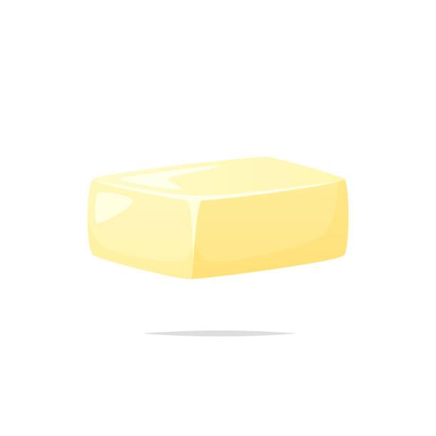 ilustrações de stock, clip art, desenhos animados e ícones de butter vector isolated illustration - manteiga