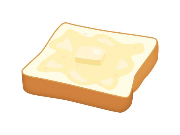 バターを塗ったトースト。 - 食パン点のイラスト素材/クリップアート素材/マンガ素材/アイコン素材