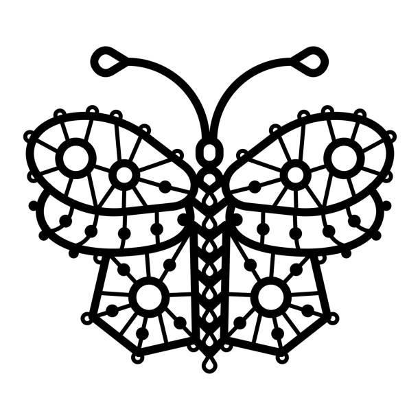 Vectores de Tatuaje De Mariposa De Encaje y Illustraciones Libre de ...