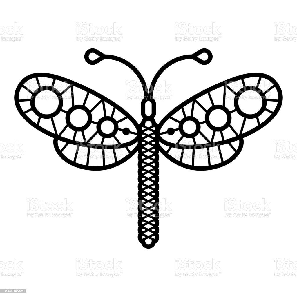 Ilustración de Butterflie Ilustración De Una Línea De Mariposas De ...