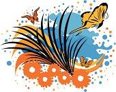 Butterflies and Flower Fields