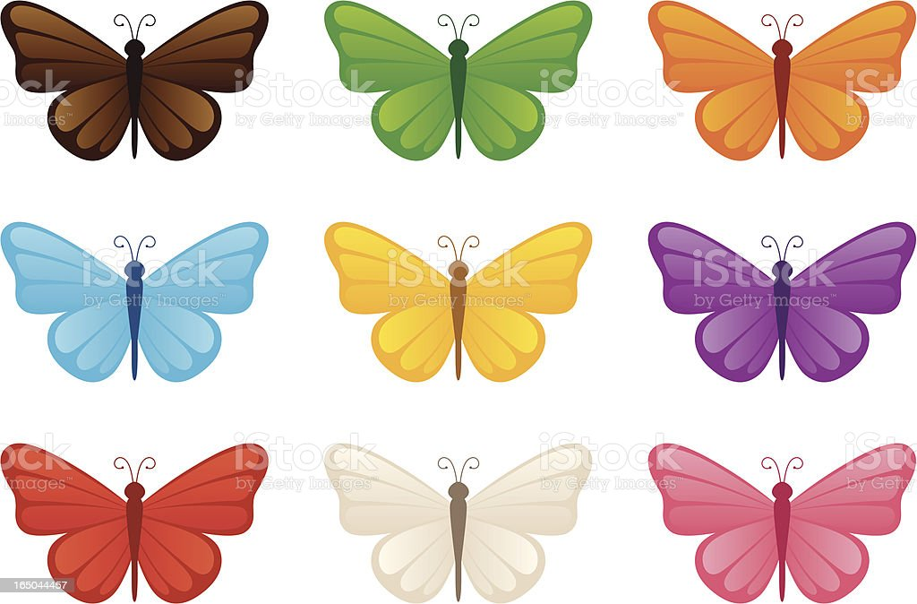 Butterflies - incl. jpeg royalty-free stock vector art