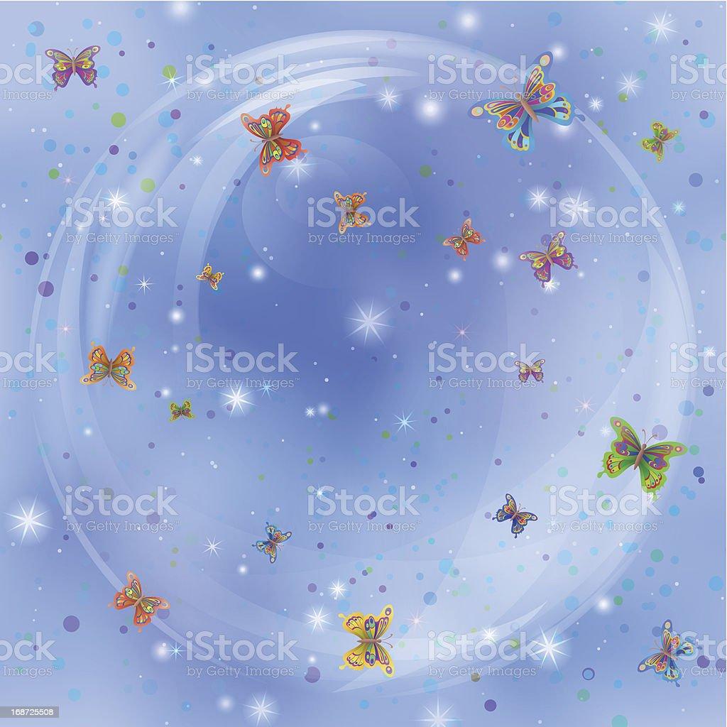 Butterflies on sky royalty-free stock vector art