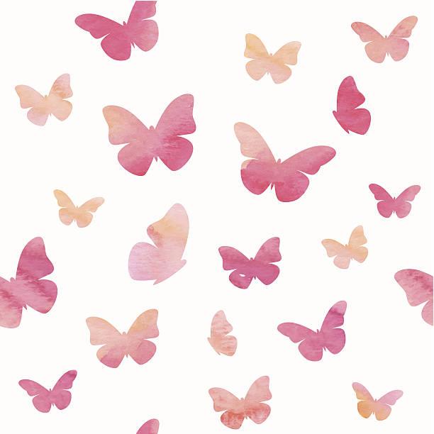 Patrón de mariposas - ilustración de arte vectorial