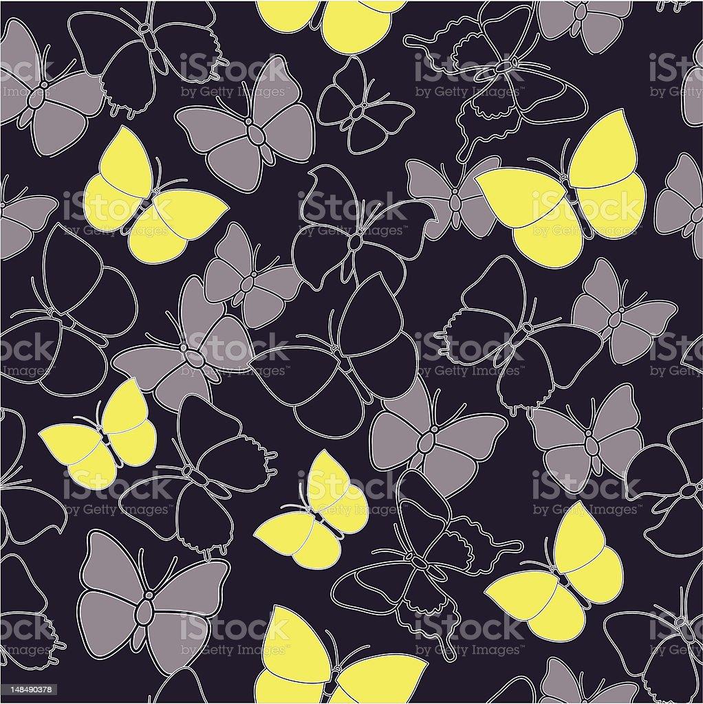 butterflies seamless pattern royalty-free stock vector art