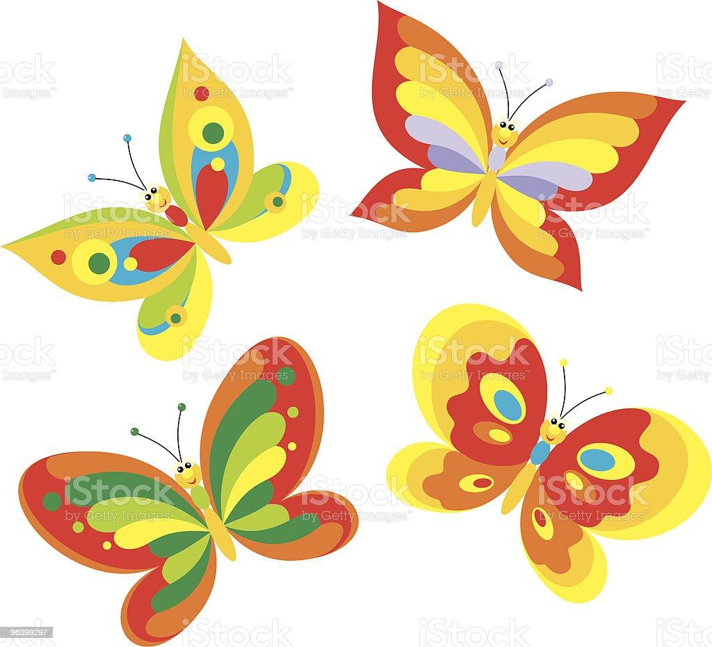 Butterflies - Royalty-free Animal stock vector