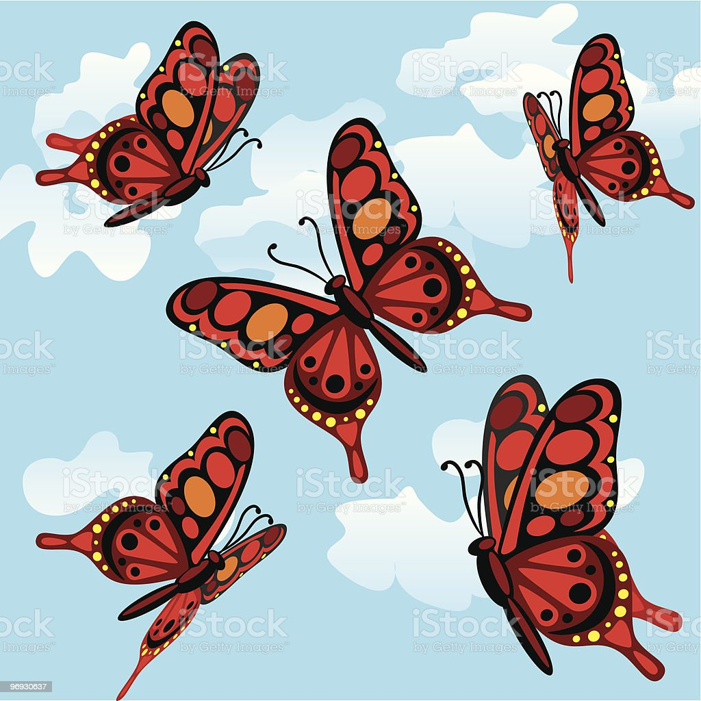 butterflies royalty-free butterflies stock vector art & more images of backgrounds
