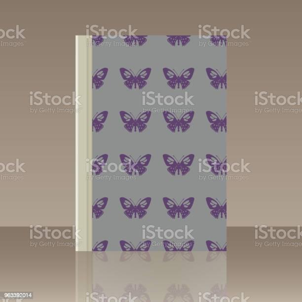 Motyl I Książka Realistyczny Obraz Obiektu - Stockowe grafiki wektorowe i więcej obrazów Biblioteka