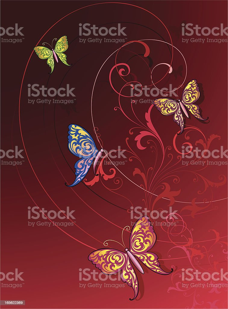 Butterfly Background royalty-free butterfly background stock vector art & more images of beauty