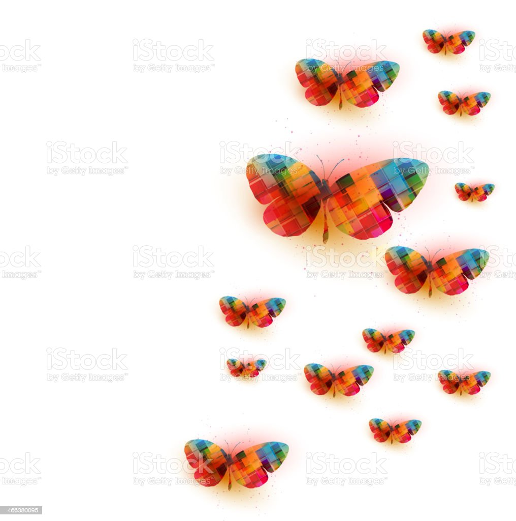 Butterfly background royalty-free stock vector art