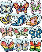 A collection of colorful butterflies ready to do your bidding.