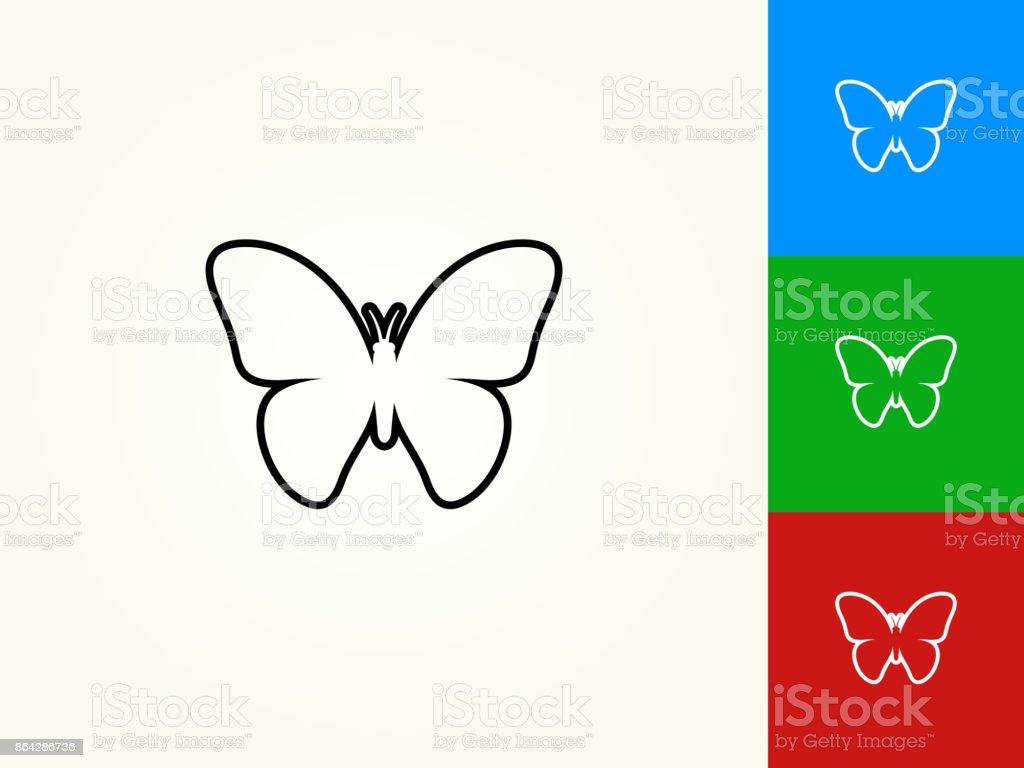 Butterfly Black Stroke Linear Icon royalty-free butterfly black stroke linear icon stock vector art & more images of animal body part