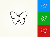 Butterfly Black Stroke Linear Icon