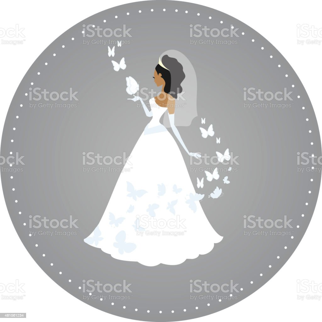 Butterfly Bride vector art illustration