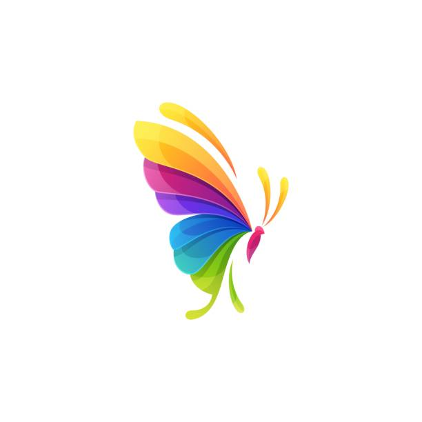 Butterfly Colorful Illustration Vector Template Butterfly Colorful Design concept Illustration Vector Template. Suitable for Creative Industry, Multimedia, entertainment, Educations, Shop, spa, beauty cosmetic, beauty salon and any related business. animal body part stock illustrations